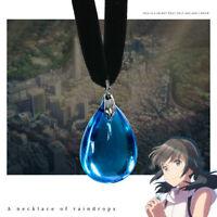 Tenkinoko Weathering With You Amano Hina Water-Drop Pendant Necklace Cosplay