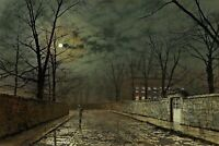 Moonlight After Rain Painting by John Atkinson Grimshaw Reproduction