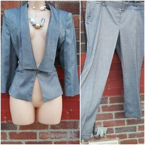 Ladies Size 18 grey Jacket Trousers  Work Office Suit smart formal