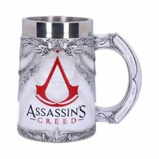 More details for new assassins creed white game tankard official licensed collectable boxed 15cm