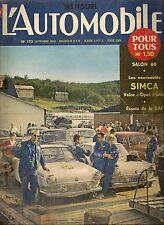 L'AUTOMOBILE 173 1960 DAF 600 JULES GOUX RENAULT DAUPHINE COUPE LAUDAT GP ALLE