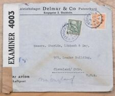 Mayfairstamps Sweden 1942 Stockholm to Cleveland Ohio Censored Wwii Cover wwk584