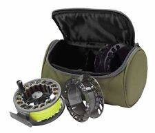 ORVIS CLEARWATER LARGE ARBOR CASSETTE IV FLY REEL W/ 2 SPARE CASSETTES FOR 6-8WT