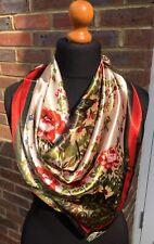 Satin,scarf/wrap. Beautiful,floral design.90cmx90cm.