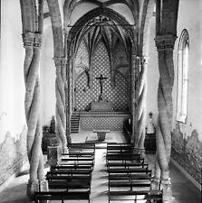 PORTUGAL c.1950 -Intérieur Bancs Église de Jésus Setúbal-Négatif 6 x 6 - Por 326