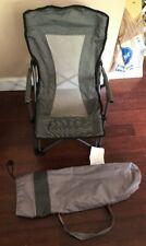 Kids Children Camping Folding Chair With Arm Rests And Storage Bag - Grey