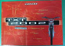 GAS GAS TXT 50 80 250 280 02 ROOKIE  CATALOGO DEPLIANT BROCHURE RECLAME