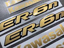Aufkleber-Set 6-teilig für Kawasaki ER-6n, Sticker Gold-metallic Neu!