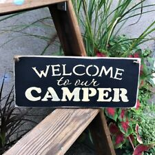 Wooden Camper Sign, Welcome to our Camper, RV Camp decor, Gift for Camper