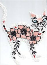 Sequin Patch: Flower Cat