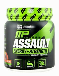 MusclePharm Assault Pre Workout Powder 30 Servings Energy Focus Endurance