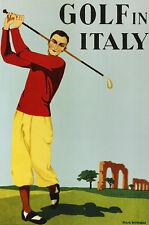 Max NINON Golf in Italy Poster Art Imprimé Image 91x61cm