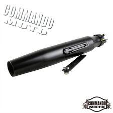 Steel Matte Black Universal Vintage Tapered Exhaust Muffler Pipe Silencer 385MM