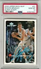 Shawn Bradley 2000-2001 Upper Deck UD MVP Super Script #/25 PSA 10 Gem Mint POP1
