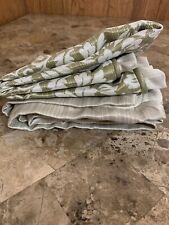 New Reba Euro Pillow Sham Massenet Harmony Leaf Ivory Green Brand New Reversible