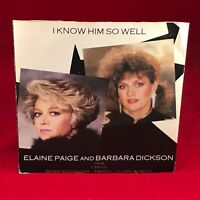 "ELAINE PAIGE & BARBARA DICKSON I Know Him So Well 1984 UK 7"" vinyl Single EXCE A"