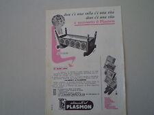 advertising Pubblicità 1961 PLASMON