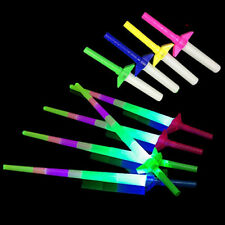 """Retractable Light Up Saber Sword 27"""" LED Toy Assorted Colors (LOT OF 25X)"""