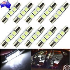 10PCS White 31mm 3-SMD 5050 LED Bulb For Car Sun Visor Vanity Mirror Fuse Light