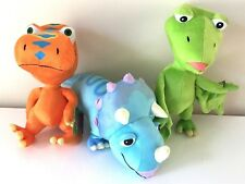Set of 3 Large 12'' Dinosaur Train Toys: Buddy, Tank, Pteranodon. PBS kids. NEW