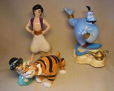 Disney Keramik Aladdin, Jasmin, Rajah Figuren und Dschinni Spieluhr