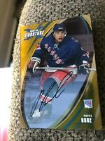 """2002-03 In The Game Pavel Bure """"Russian Rocket"""" Gold Signature Auto Rangers HOF"""