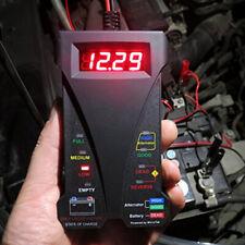 12V Digital Battery Alternator Tester LED Display Volt Check Car Motorcycle Tool