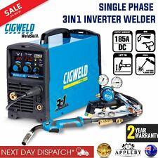 CIGWELD W1008185 3 in 1 Weldskill 185 Mig/tig/mma Single Phase Inverter Welder