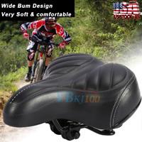 Comfort Wide Big Bum Mountain Road Bike Bicycle Sporty Soft Pad Saddle Seat