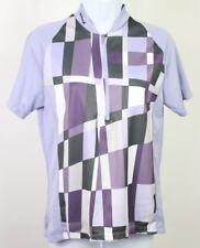 Sugoi lavender women's cycling jersey medium 1/2 zip  back zip pocket