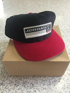 Jordan Mens Hat /Cap,Black/Red 1990's? retro New w/ tags performance brand