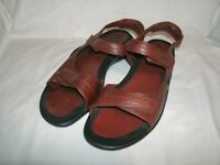 ECCO Women's Brown Leather Strappy Sandals size 41 10.5 US