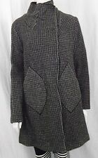VERONICA DAMIANI LONG COAT STYLE V-9319-24 BLACK AND WHITE  ITL 38
