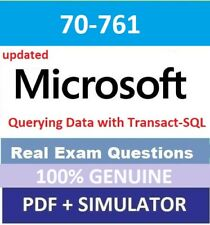 70-761 Microsoft Querying Data with Transact-SQL and simulator