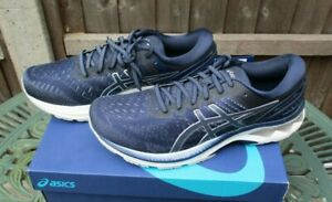 Mens Asics Trainers Gel Kayano 27 Running Shoes Sneakers Peacoat Grey UK 9 BNIB