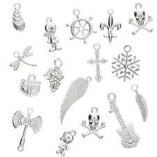 50Pcs/Set Gold Plated Mixed Styles Charm Pendants DIY Jewelry Craft Findings