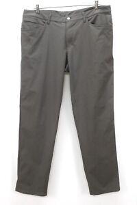 mens obsedian LULULEMON ABC pants classic M5426S warpstreme stretch 38 x 33