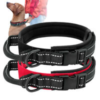 Dog K9 Military Tactical Working Training Collar & Handle Reflective Dog Collar