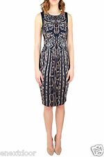 Roberto Cavalli Sleeveless Leo Deco Sheath Dress Size 38 NWT $995