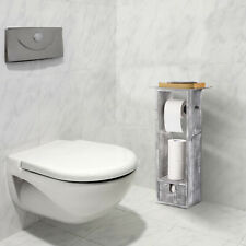 Nex Toilet Paper Holder, Bathroom Toilet Tissue Paper Roll Holder Stand-Gray