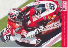 Lorenzo Lanzi Promo Card Xerox Ducati World Superbikes.