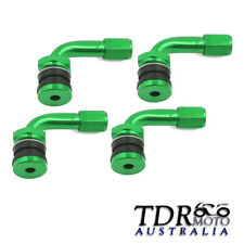 Green 4x Car Motorcycle Caravan Tyre Valve Extension Adaptor 90 Degree Aluminium