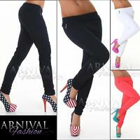 WOMENS SKIN TIGHT STRETCH PANTS SKINNY ladies CASUAL TROUSERS long TREGGINGS AU