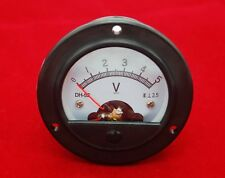 DC 0-5V Round Analog Voltmeter Analogue Voltage panel meter Dia. 66.4mm DH52