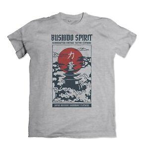 Temple mens t shirt bushido spirit samurai japan  S-3XL