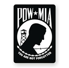 POW MIA Hard Hat Decal / Sticker Military United States Army Marines Air Force