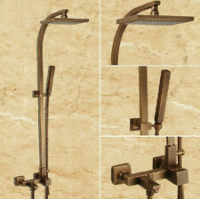 bathroom wall mounted antique brass shower set hand shower tub tap mixer spout