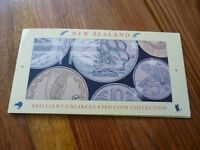 NEW ZEALAND 1990 BRILLIANT UNCIRCULATED COIN COLLECTION. 1990 COIN SET.