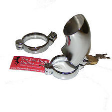 """TheSexShopOnline """"Houdini"""" Metal Male Bondage Chastity Device With 2 Rings"""