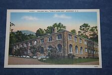 Vintage Linen Postcard College Hall Girls Dormitory, Montreat, North Carolina
